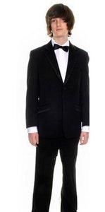 Yeni siyah sayfa erkek takım elbise Boy Düğün Suit Boys 'Biçimsel Durum kıyafet Özel elbise smokin yaptı (ceket + pantolon + yelek + kravat)