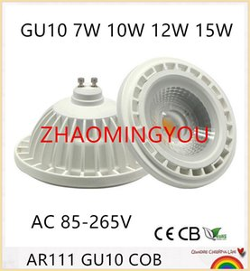 ZHAO DC12V AC85-265V AR111 GU10 7W 9W 12W 15W dimmbare LED-Lampe COB LED-Scheinwerfer AR111 GU10 G53 Lampe LED