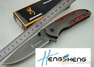 Browning DA43 Klappmesser 3Cr13 Blatt Palisander Griff Titanium Tactical Messer-Taschen-Camping-Werkzeug schnell geöffnet Jagd-Messer-Überlebens-Messer