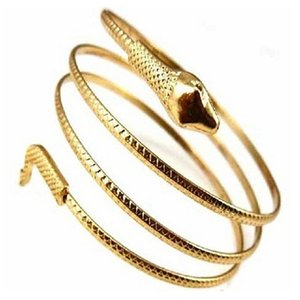 Atacado-Punk Moda Coiled Snake Spiral Braço Cuff Armlet Armband Bracelet 9GV4