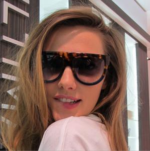 Hombres de la moda de marca Remachado Cat Gafas de sol 97055 Gafas de sol de doble color Frame Eyewear + caja / paño para Sunglass1688