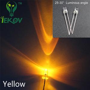 5000 pz / lotto di alta qualità 3mm rotondo top giallo led 3mm ultra luminosi led diodi a emissione di luce componenti elettronici all'ingrosso