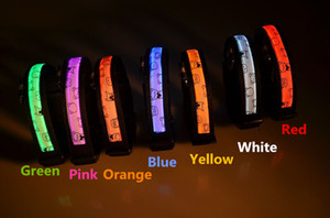 D31 pet dog cat collar 2.5cm width nylon lights collar light-emitting LED pet collar dog collar  w bear design free shipping