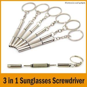 Mini 3 in 1 Keychain Sunglasses Screwdriver Mobile Phone Watch Repair Tool Flat Head Screwdriver   Phillips Screwdriver   Star Nut Driver