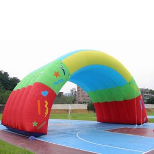 tenda gonfiabile dell'arco dei graffiti della tenda della galleria dell'arcobaleno gonfiabile per l'evento, decorazione della fase con l'aeratore libero