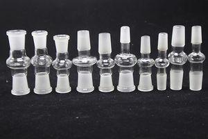 10 models glass bong adapter 14.4 18.8 male to female 14mm 18mm female to male converter glass adaptor for glass bong