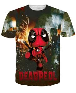 Оптовая продажа-2016 Дэдпул мужская мода футболка хип-хоп смешная одежда повседневная футболка Хабар 3D игры печатных футболка Мужчины Женщины тройники размер M-XXL