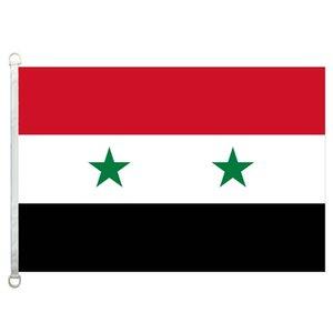 Buona Bandiera Siria Flags Banner 3X5FT-90x150cm 100% poliestere bandiere di paesi, 110gsm ordito tessuto a maglia bandiera esterna
