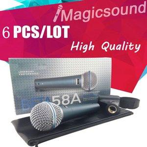 6PCS de alta calidad BETA58 !! Micrófono dinámico de mano dinámico Micrófono super cardioide BETA58 Beta 58 A Mic