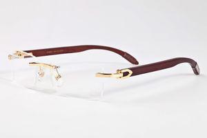 2020 Новой мода спортивного солнцезащитных очков деревянного рог буйвола очки без оправы кадров металла прозрачных линз популярных поляризационных солнцезащитных очков для унисекса