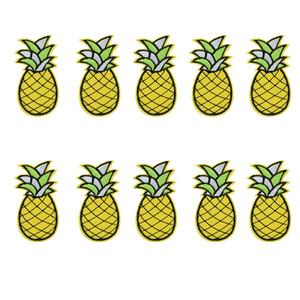 10 PCS abacaxi bordados patches para roupas de ferro patch para roupas applique acessórios de costura adesivos crachá em roupas de ferro em remendos