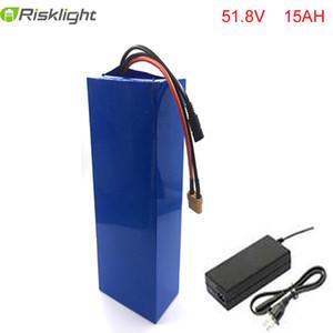 New Arrival 14S down tube battery 52V 15Ah eBike Batteries 51.8V 15Ah e-bike battery for 8fun 48v 750w 1000w 1200w Bafang motor