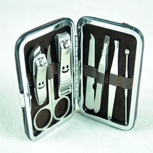 acier inoxydable 1 set 7pcs Kit Coupe-Ongles Soins des Ongles Set Pédicure Ciseaux Tweezer Couteau Oreille Choisir Utilitaire Manucure Ensemble Outils