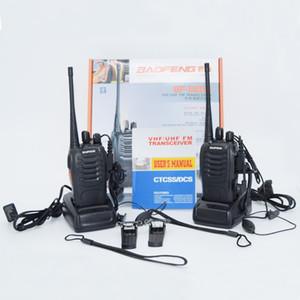 BF-888S 400-470 MHz 5 W 16CH Portatile Radio bidirezionale Walkie Talkie Interphone con 1500 MAH Batteria 888 S spedizione gratuita