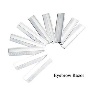 10pcs / lot Sourcils rasoir en acier inoxydable Microblading Brow rasage soutiers Make Up Outils Free Shopping