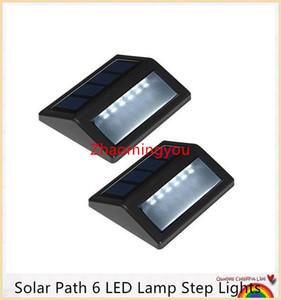 Solar Path 6 LED Lamp Step Lights IP55 Impermeabile Wireless Led Illuminazione di sicurezza solare Outdoor Garden Patio Portico Gutter Lanterna