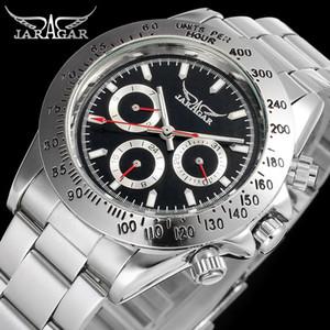 Heiße Verkaufs-Luxusmänner automatische Uhren automatische Glasrückseiten-Uhr-mechanische Sport-Mann-Uhren JARAGAR passt Großhandelskasten auf
