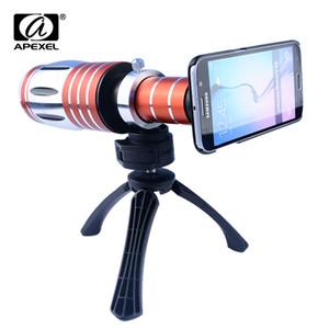 APEXEL Aluminium 50X Zoom Telescope Lens Camera Tripad و Case 50X Telephoto Lens for iPhone Samsung lens lens