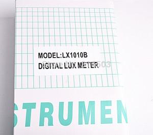 Wholesale-60pcs Light Meter 3 range LX-1010B Digital Meter Digital illuminance meter 0 - 50000 Lux photometer exposure remote control