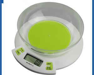 3000 g x 0.1 g Escala de cocina digital Pastel de comida Peso Balanza electrónica Escala g / oz / ct / gn
