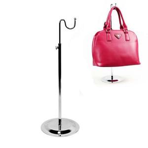 Freies Verschiffen-Metall einzelner gebogener Haken justierbare Frauenbeutel / Handtaschenausstellungsstandgestell 5PCS / lot