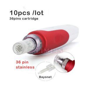 36 pin дерма ручки картридж штык MYM авто электрический дерма ручка аксессуары 36 pins татуировки иглы наконечник замена головки