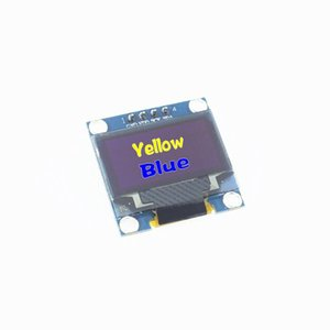 الجملة خالية الشحن 0.96 بوصة 128X64 OLED وحدة العرض لاردوينو 0.96 IIC SPI التواصل الأصفر الأزرق