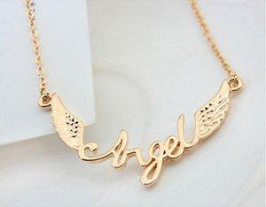 Halskette Schmuck Mode-Qualitäts-18K Gold überzogene Legierung Angel Wings Schlüsselbein Kette Halskette für Frauen