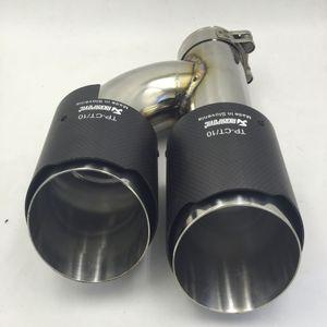 Tamam Longshort çift sürüm inlet63mm-outlet101mm AKRAPOVIC karbon fiber egzoz İpucu egzoz borusu susturucu için