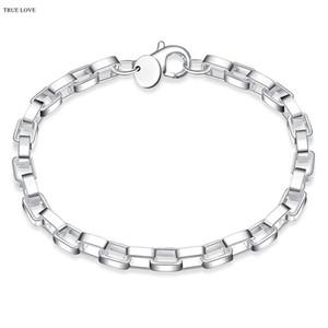 5 мм стерлингового серебра 925 коробка цепи браслет мода унисекс ювелирные изделия оптом рождественские подарки низкая цена бесплатная доставка