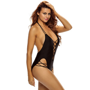 2017 New Sexy 1 one piece swimsuit Backless swim suit for women Swimwear Bathing suit swim wear female Monokini
