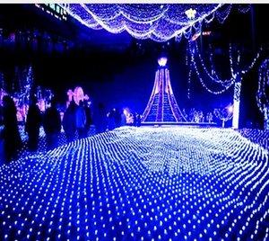 3 Mt x 2 Mt 210 LED Fairy String Weihnachtsbaum Mesh Vorhang Decke Haus Fenster Wand Net Licht Festival Weihnachten Urlaub Dekoration AC110V-250V