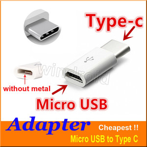 Micro USB to USB 2.0 Type-C USB Data Adapter connector For Note7 new MacBook ChromeBook Pixel Nexus 5X 6P Nexus 6P Nokia N1 cheapest 500pcs