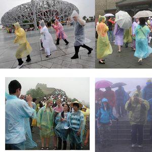 One Time Descartável PE Raincoats Poncho Impermeável Fashional Viagem Rainwear Caminhada Chuva Desgaste Cheap PE descartável Raincoats