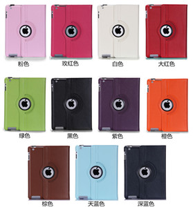 Para iPad Pro 9.7 Pu Funda giratoria de cuero 360 Soporte inteligente para iPad Air 2 Galaxy Tab Mini Retina Plegable