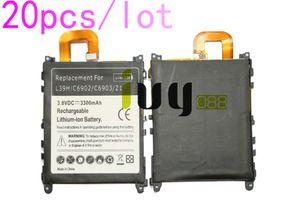 20pcs / lot 3300mAh LIS1525ERPC Batería de repuesto para Z1 L39H L39T L39U C6902 C6903 C6906 C6916 C6943 Baterías Batteria Batterie Batterij