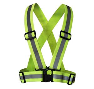 5pcs freeshipping abbigliamento di sicurezza di alta qualità riflettente 3m materiale tessuto striscia tap band vest jacket sportivo outdoor gear RS-01Thickened