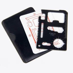 Frete grátis Ferramenta Mini Cartão de Crédito bolso multi aço inoxidável portáteis Outdoor Survival Camping Carteira Tools Faca Serras