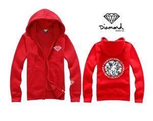 Livraison gratuite couleurs mélangées fermeture à glissière diamant d'approvisionnement co hoodie hip-hop cardigan manteau 2017 nouveau pull en polaire