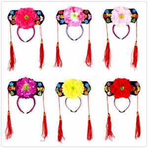 Бесплатная доставка Цин Принцесса cap Принцесса аксессуары для волос китайский костюм шляпа подарки для девочек Детский день подарок