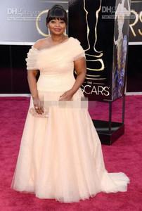 2019 85a Oscar Octavia Spencer Dreamy asimétrico fuera de los hombros A-Line Celebrity vestidos de noche vestidos de fiesta noche más tamaño