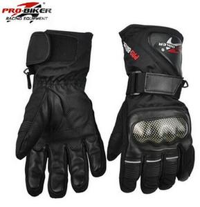 Pro-Biker Guantes Motorcycle Перчатки Водонепроницаемые кожаные перчатки Pro Biker Мотоцикл Зима Теплый Полный Палец Мотокросс Мотоцикл Мото