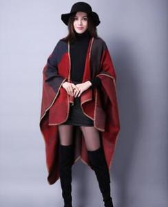 Yeni tavsiye kadın moda kış vahşi ızgara seyahat şal şal tasarımcı ulusal rüzgar renk kalınlaşma sıcak tulum isabet toptan