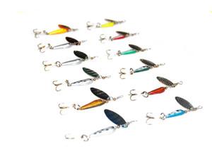 12Pcs Fishing baits Crank bait Fishing Lures Spoon Spinner Bait Set With Sharp Treble Hook Fishhooks