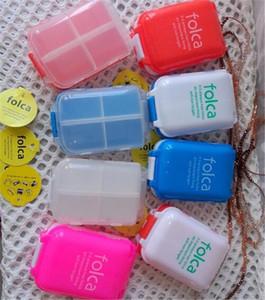 Caja de pastillas Folca Caja de almacenamiento de medicamentos 8 compartimientos Contenedor médico Caja de almacenamiento de pastillas Estuche de joyería mini caja de plástico alijo D889