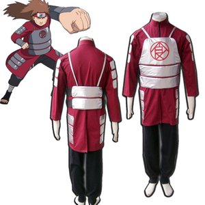 The Second Generation Akimichi Choji Naruto Cosplay Costume Kimono Red For Unisex Halloween Party SIZE XS-3XL