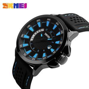 SKMEI Men Fashion Sport Watches Complete Calendar Quartz Wristwatches Waterproof Quartz Movement Watch Outdoor Relogio Masculino 9152
