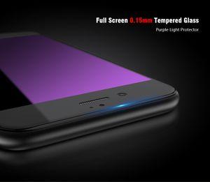 Full Screen ausgeglichenes Glas-Schirm-Schutz-Telefon-Abdeckung für iPhone 6 6s Plus 7 7 Plus Fälle 0.15mm ultra dünner vorderer Film