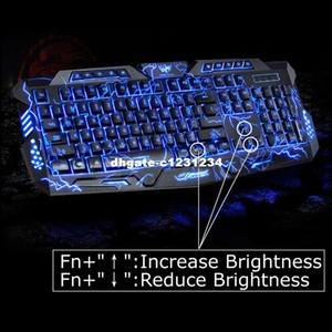 Englisch Version Wasserdichte Hintergrundbeleuchtung LED Professionelle Gaming Tastatur M200 USB Verkabelt Powered Full Key Für PC Computer Peripherie