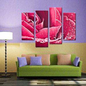 Kunst große hochwertige Leinwand HD Giclee Print rosa wunderschöne Rosen Malerei, bereit zu hängen, moderne Hauptdekorationen Wandkunst